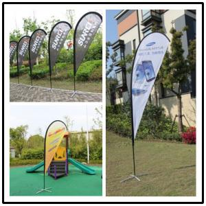 China Cross Base Incuded Advertisement Beach Flag Banner Outside With Custom Logo on sale