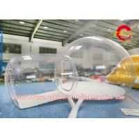 Round Shaped Inflatable Bubble Room For Camping Commercial Grade Oxford / PVC