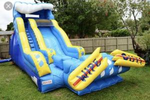 China Giant Blow Up Water Slide / Children'S Inflatable Slides Easy Storage on sale