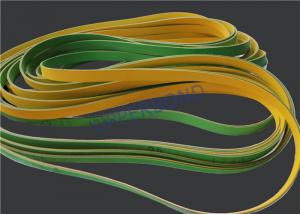 China MK9 Tobacco Machinery Spare Parts Flat Power Transmission Belts Green Yellow on sale