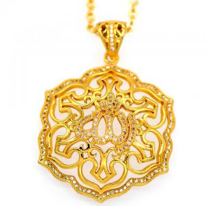 China Vintage Allah pendants Women/Men jewelry Gift 18K Gold Plated Fashion african Jewelry on sale