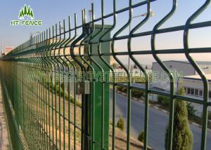 China 3D Curved Welded Wire Mesh Fencing With 60 × 60mm Square Post Metal Clips Fixed on sale