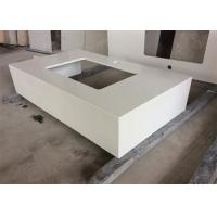 Quartz Stone Gentle White Bathroom Vanity Tops With Undermount Sink , Solid Surface