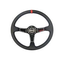 Easy Control Red Race Car Steering Wheel Increase Driving Comfort And Grip