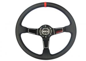 China Easy Control Red Race Car Steering Wheel Increase Driving Comfort And Grip on sale