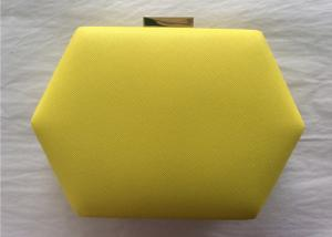 China Trendy Hard Shell Ladies Leather Clutch Bags Big Size PU Leather Material on sale