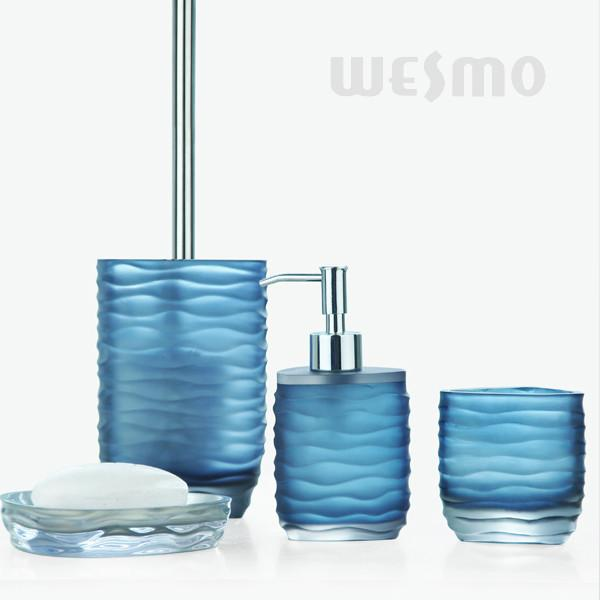 Awesome Light Blue Semi   Transparent Polyresin Bathroom Set / Bathroom Accessories  Set (WBP0342A)