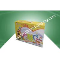 China Stationery Custom Printed Corrugated Boxes With Plastic Hondle For Kid's Study Books on sale