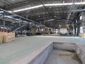 China PET Bottle Recycling Line Plastic Processing Machinery For Crushing / Washing / Drying on sale