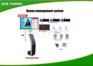 China Free Standing Interactive Information Kiosk , Self Service Banking Kiosk on sale