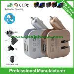 Portable direct 2 de promotion de fabricant dans 1 prise interchangeable de chargeur de voyage et de voiture