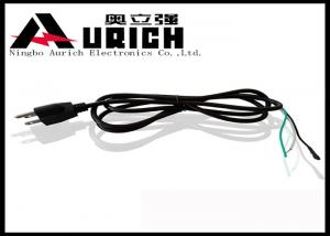 China Ul Certification American 110v 3 Prong Power Lead , 3 Pin AC Power Cord on sale
