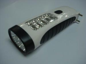 China Emergency Rechargeable Outdoor Plastic LED Torch With FM Auto Scan Radio on sale