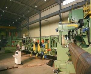 China Natural Oil And Gas Tube Mill Machine , API Standard Spiral Welded Tube Mill on sale