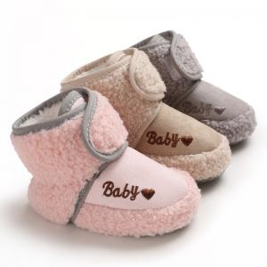 China Newborn Baby Flannel warm Winter boots antislip Toddler infant baby boots shoes on sale