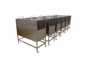 China Rustproof Heavy Duty Dog Crate For Pet Clinic , Stainless Steel Pet Transport Cage on sale