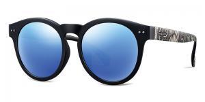 China Women PEI Sunglasses Grey Blue Lens Ultra Light Eyeglass Frames UV Protection on sale