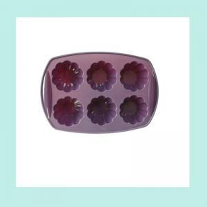 China flower shape rtv silicone cake mold ,mini silicon baking muffin mold on sale