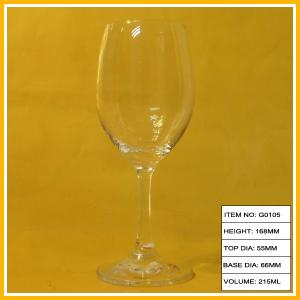 China Personalised Transparent Goblet Wine Glass , Luxury Wine Glass For Decorative on sale