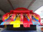 China Plato PVC Red Inflatable Water Park Slide / Large Inflatable Floating Water Slide wholesale