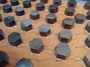 China Silicon Carbide Ballistic Tiles / SIC Ballistic Aircraft Armor Ceramic High Hardness on sale