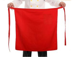 China White / Black / Red Restaurant Work Wear Easy Clean Cooking Long Waist Apron on sale
