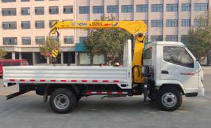 China Carbon steel Truck Mounted Crane hydraulic / boom truck crane 26 MPA on sale