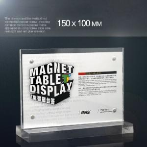 China Magnetic Retail Clear 8.5 x 11 Acrylic Sign Holder For Display In Hotel on sale