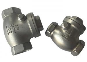 China Screwed SS316 and SS304 Check Valve , Cast Steel Swing Check Valve on sale
