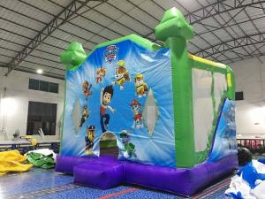 China Commercial Home Use  Inflatable Bouncy Castle , Inflatable Bouncer House Jump House With Slide on sale