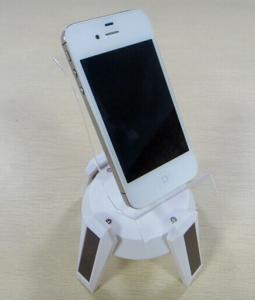 China solar rotation display mobile phone holder on sale