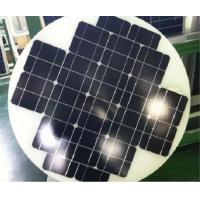 Mono Cystral Round Solar Panels , Hot Air Solar Panels Triple Layer Back Sheet