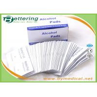 China Antiphlogosis 70% Isopropyl Alcohol Swab Alcohol Prep Pads Wipe Cleanser for First Aid Cleaning and disinfecting on sale
