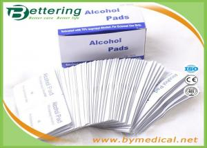 China First Aid Medical Sterile Alcohol Prep Pads / Alcohol Prep Swabs Non Woven Material on sale