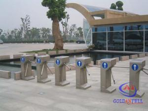 China 304 Stainless Steel Semi Automatic Vertical Tripod Turnstile With Mifare Card Reader on sale