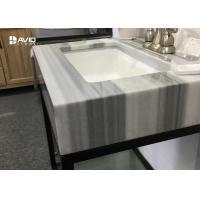 Turkey Marmaray White Marble Vanity Tops , Marble Kitchen Countertops