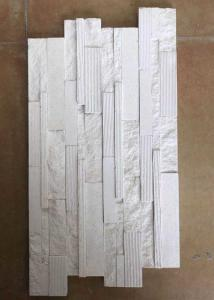 China 2.5 G / Cm³ Density Natural Slate Stone Marble Culture Stone Sawn Cut Split White Color on sale