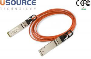 Quality 56G Quadwire AOC 4x14G Infiniband FDR QSFP 56G Breakout Active Optical Cable for sale
