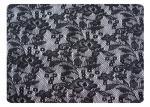 Tissu 100% de dentelle de polyester de noir pour des chemises de nuit, lingerie CY-CT8562
