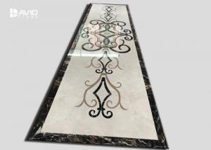 China Simple Flower Marble Tile Patterns Marble Floor Medallion Water Jet Designs on sale