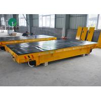10 Ton Rail Powered Motorized Inter Bay Slab Transfer Cars For Material Transport In Workshop
