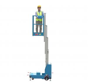 China 4m height Portable access platform Electric Aerial One Man Lift single manlift on sale