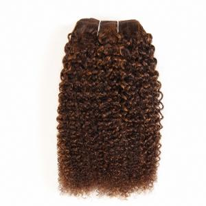 China Pre-Colored Mixed Brown Human Hair Brazilian Hair Weave Afro Kinky Wave  Hair Extensions P4/30 supplier