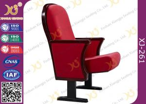China Wooden Back  Lecture Hall Chair Elegant Concert Hall Auditorium Seating For Church on sale