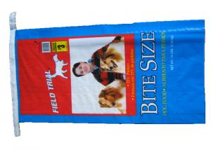 China Single Stitched Plastic Feed Bags , Recycle Dog Food Bags 25 Kg Moisture Proof on sale