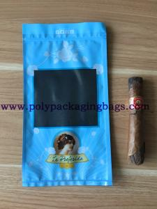 China Moisture Proof Zipper Resealable Cigar Packaging Bag wholesale
