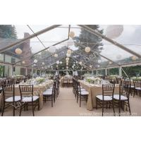 China Outside Transparent Party tent with clear roof , PVC Fabric with UV Resistance on sale