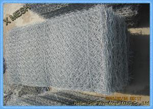 China Double Twisted Gabion Wire Mesh Panels Heavy Zinc Coating Erosion Control on sale