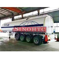 50m3 4 Alxe Fuel Tanker Semi Trailer, Diesel / Petrol Trailer Tank 6 Compartments