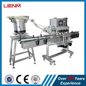 China Linear capping machine with bottles sensor clamping system automatic bottle jar container capper equipment custom cappin on sale